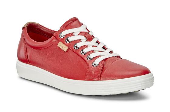 ECCO Womens Soft 7 Sneaker (TOMATO)