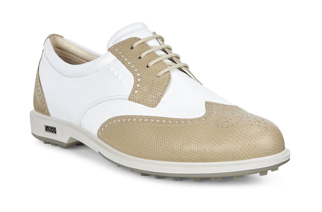 ECCO Golf - Classic Golf Hybrid (Sand/White) Women's Golf Shoes