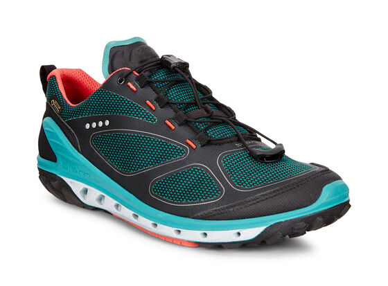 ECCO Womens BIOM Venture GTX (BLACK/CAPRI BREEZE/CORAL BLUSH)