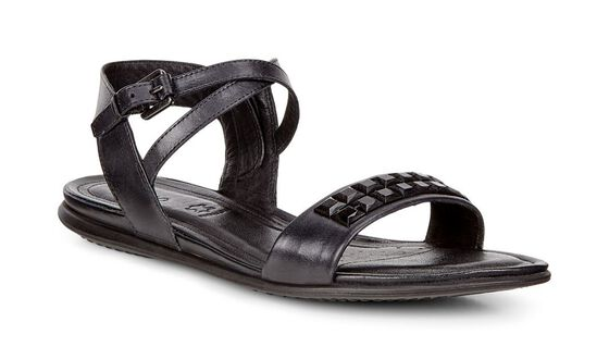 ECCO Touch Embellished Sandal (BLACK)