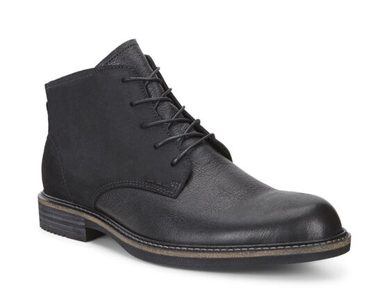KENTON Plain Toe Boot (BLACK/BLACK)