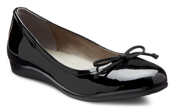 ECCO Touch Bow Ballerina (BLACK)