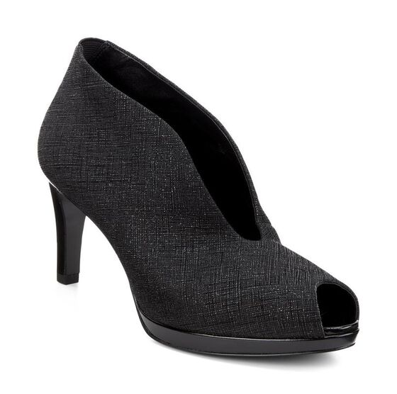 ECCO Baltimore Peep Toe (BLACK/BLACK)