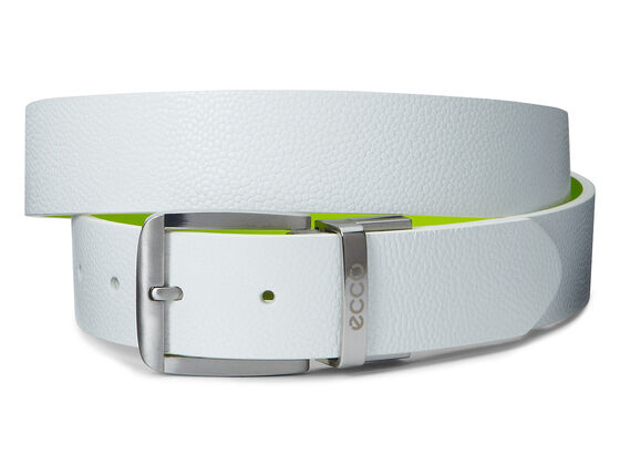 ECCO Dailey Mens Belt (WHITE/LIMEPUNCH)