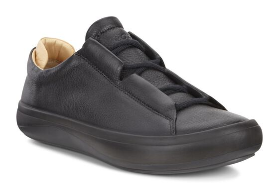ECCO Mens Kinhin Low (BLACK/VEG TAN)