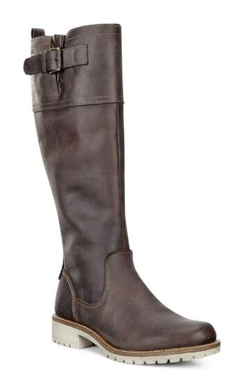 ECCO Elaine Tall Boot Buckle (COFFEE)