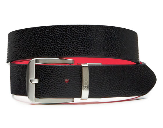 ECCO Dailey Ladies Belt (BLACK/TEABERRY)