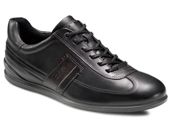 ECCO Chander Dress Sneaker (BLACK/BLACK/COFFEE)