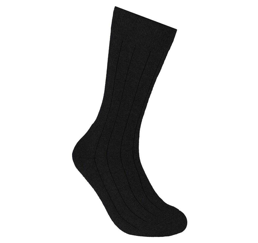 ECCO Men's Ribbed Dress Sock 0737426318463