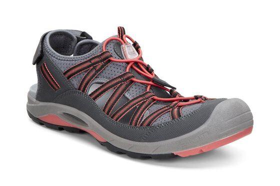 ECCO Womens BIOM Delta Sandal (DARK SHADOW/CORAL BLUSH)