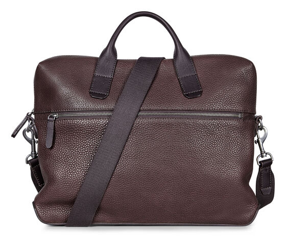 ECCO Ioma Slim Briefcase (COFFEE)