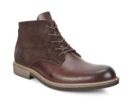 ECCO Kenton Plain Toe Boot (MINK/MOCHA)