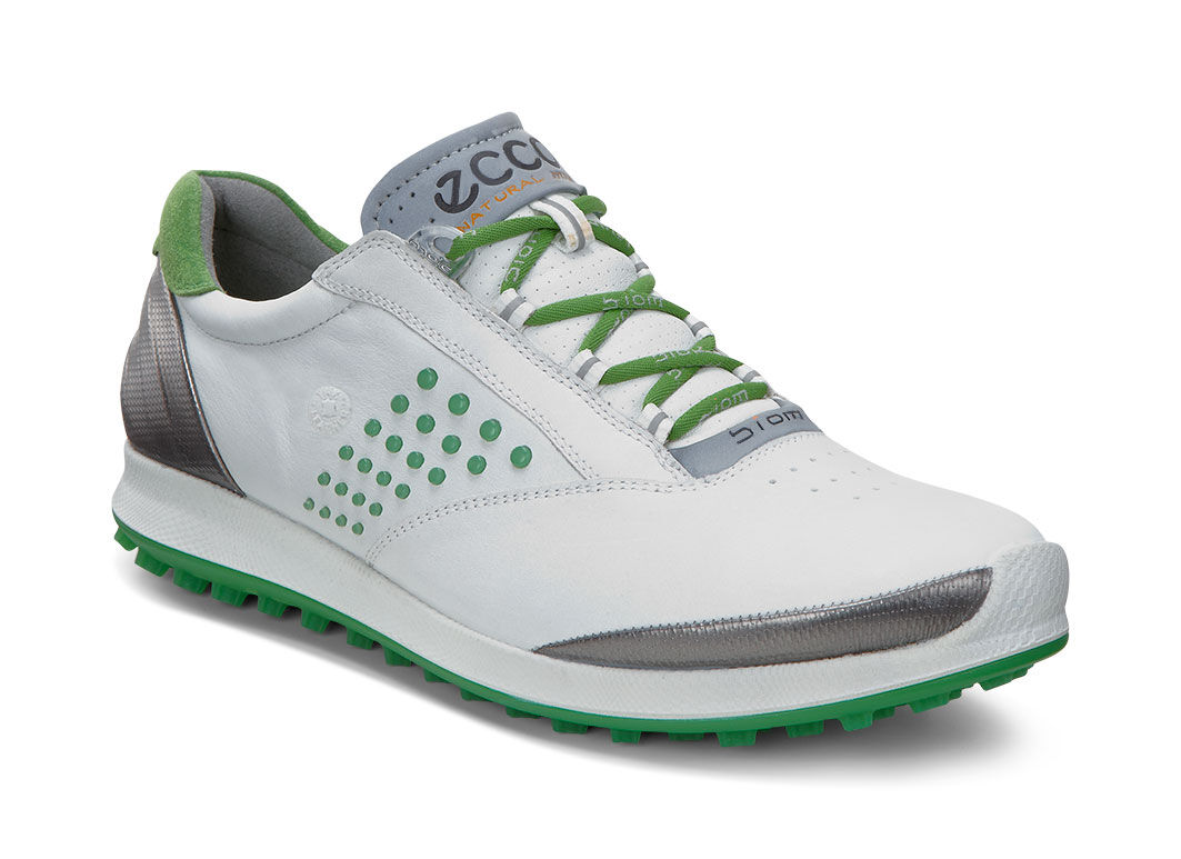 ECCO Golf - BIOM Hybrid 2 (White/Meadow) Women's Golf Shoes