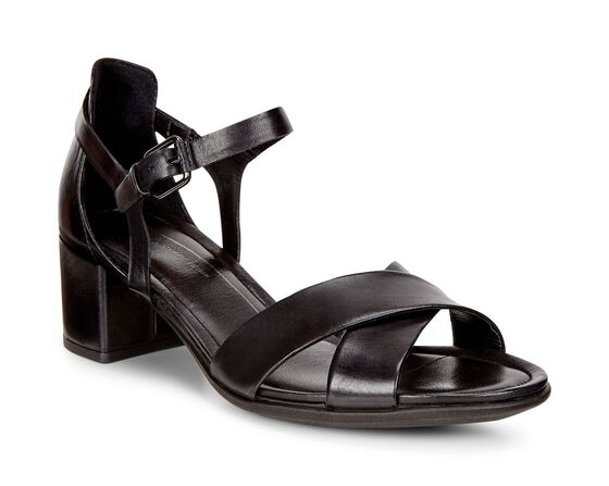 ECCO Shape 35 Block Sandal (BLACK)