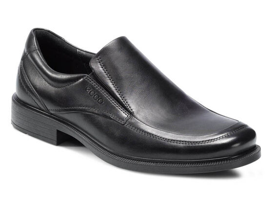 ECCO Dublin Apron Toe Slip On (BLACK)