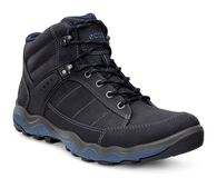 ECCO Mens Ulterra Dhaka Mid (BLACK/DENIM BLUE)