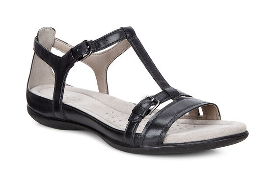 ECCO Flash T-Strap Sandal (BLACK)