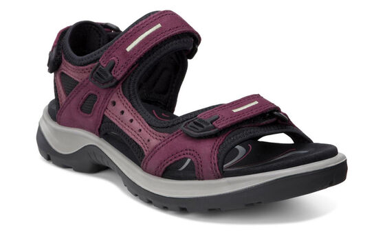 ECCO Womens Yucatan Sandal (MORILLO/PORT/BLACK)