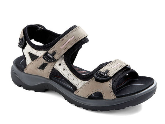 ECCO Womens Yucatan Sandal (ATMOSPHERE/ICE W./BLACK)