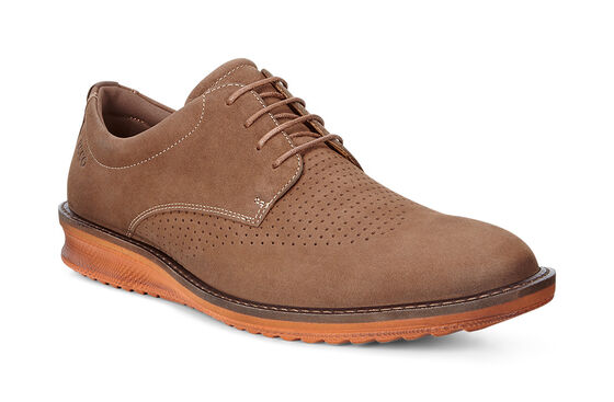 CONTOURED Brogue Tie (CAMEL/COCOA BROWN)