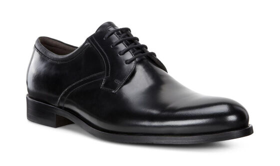 IRVINGTON Plain Toe Tie (BLACK/BLACK)