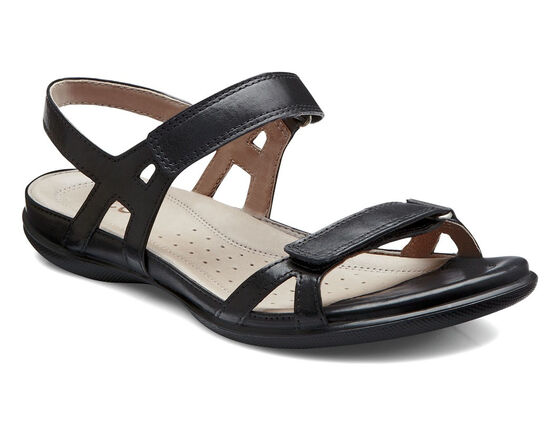 ECCO Flash Ankle Strap Sandal (BLACK)