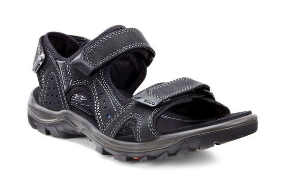 ECCO Mens Cheja Sandal (BLACK/DENIM BLUE)