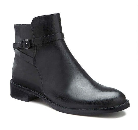 ECCO Hobart Strap Ankle Boot (BLACK)