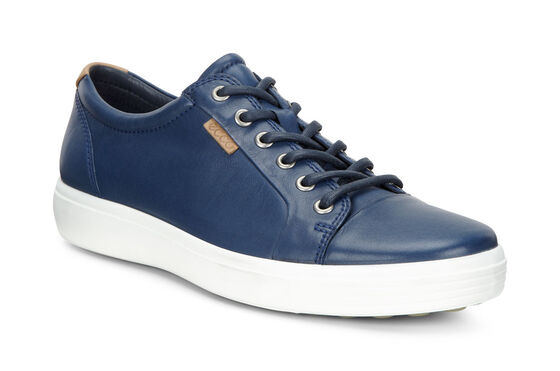 ECCO Mens Soft 7 Sneaker (TRUE NAVY)
