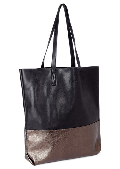ECCO Delight Tote Shopper (BLACK/BROWNISH METALLIC)