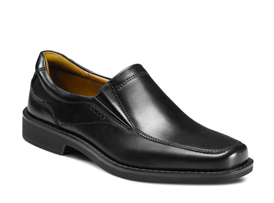 ECCO Seattle Apron Toe Slip On (BLACK)