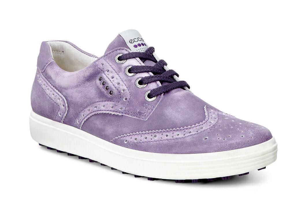 ECCO Golf - Casual Hybrid Wingtip (Grape) Women's Golf Shoes