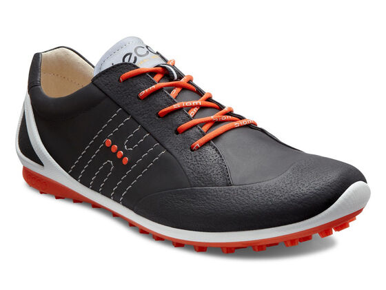 ECCO Mens BIOM Zero Golf Lace (BLACK/FIRE)