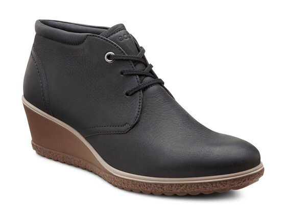 ECCO Camilla Wedge Ankle Boot (BLACK)