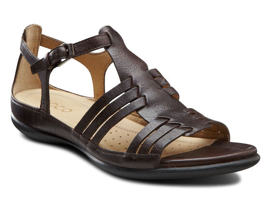 ECCO Flash Huarache Sandal (COFFEE WITH BLACK SOLE)