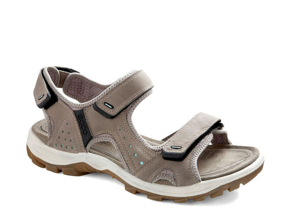 ECCO Womens Cheja Sandal (MOON ROCK/EMERALD)