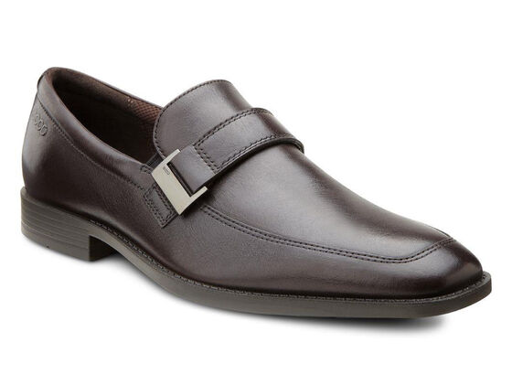 ECCO Edinburgh Buckle Slip On (MOCHA)