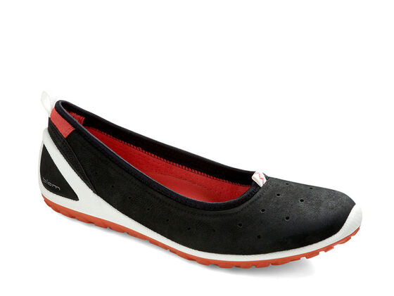 ECCO Womens BIOM Lite 1.2 Flat (BLACK/POPPY)