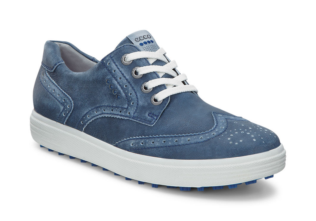 ECCO Golf - Casual Hybrid Wingtip (True Navy) Women's Golf Shoes