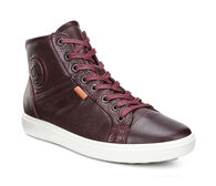 ECCO Womens Soft 7 High Top (BORDEAUX)