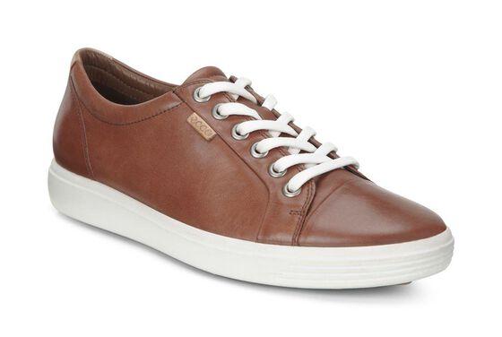 ECCO Womens Soft 7 Sneaker (MAHOGANY)