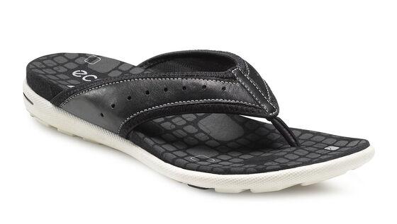 ECCO Jab Sandal Thong (BLACK/BLACK)