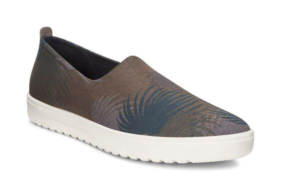 ECCO Fara Slip On (TARMAC PALM PRINT/DEEP FOREST)