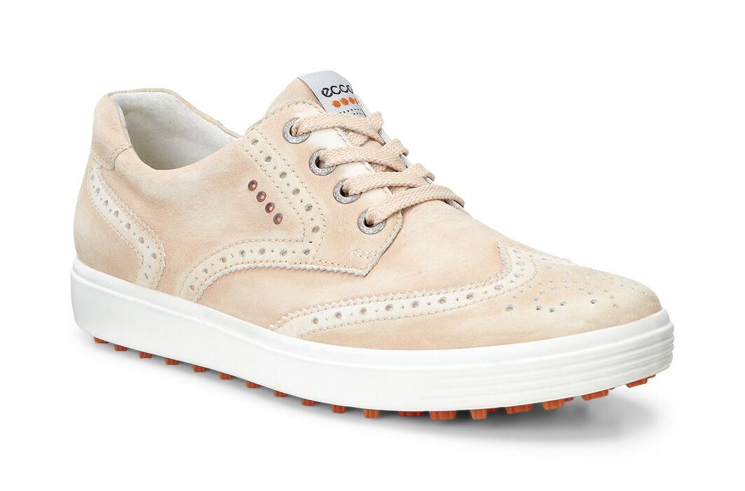 ECCO Golf - Casual Hybrid Wingtip (Sesame) Women's Golf Shoes