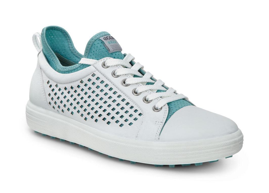 ECCO Golf - Summer Hybrid (White/Aquatic) Women's Golf Shoes