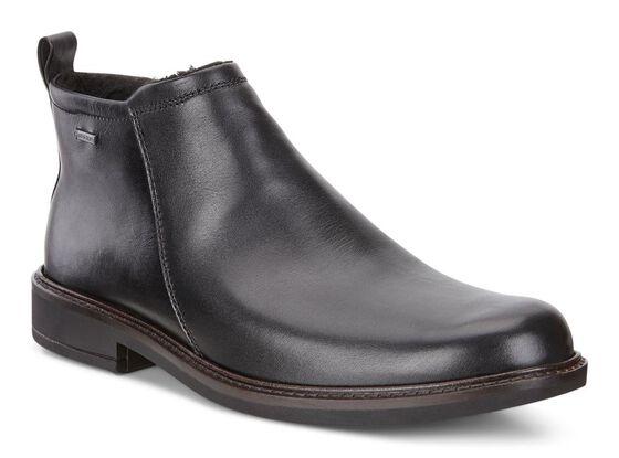 ECCO Holton Plain Toe GTX Boot (BLACK)