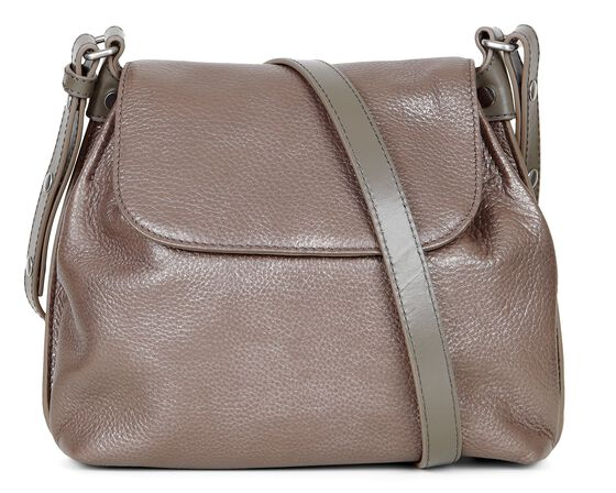 ECCO Fortine Crossbody (DARK BROWN METALLIC)