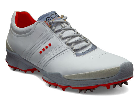 ECCO Mens BIOM Golf Hydromax (WHITE/FIRE)