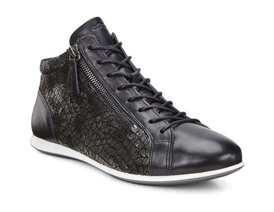 ECCO Touch Sneaker High Top  (BLACK/BLACK)