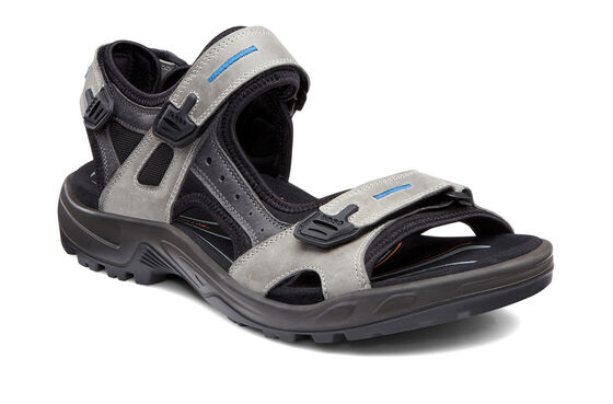 ECCO Mens Yucatan Sandal (WILD DOVE/TITANIUM/BLACK)
